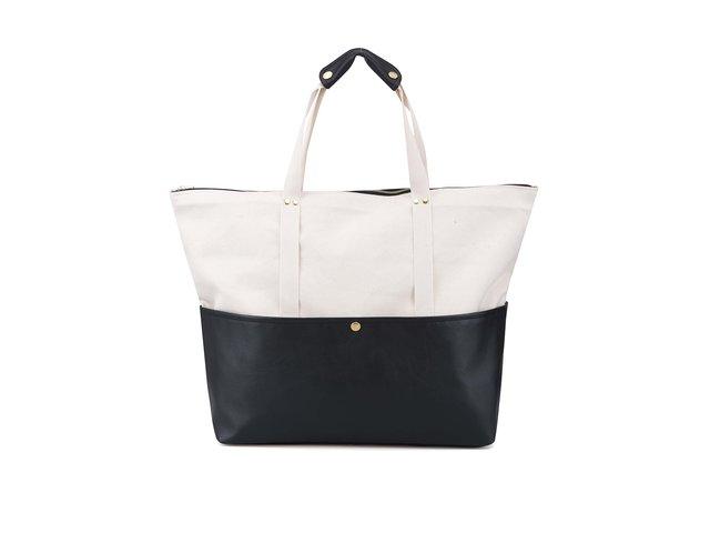 Béžovo-černá cestovní taška ZOOT Lokál
