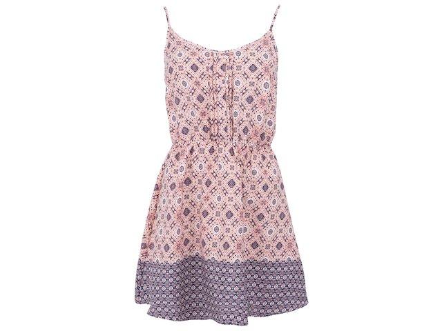 Meruňkové vzorované šaty New Look