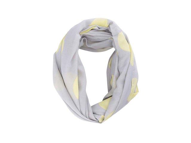Šedý puntíkovaný dutý šátek Pieces Namid