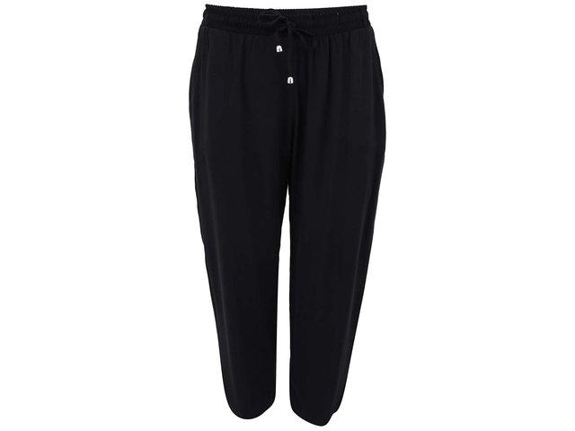 Černé volnější 3/4 kalhoty New Look