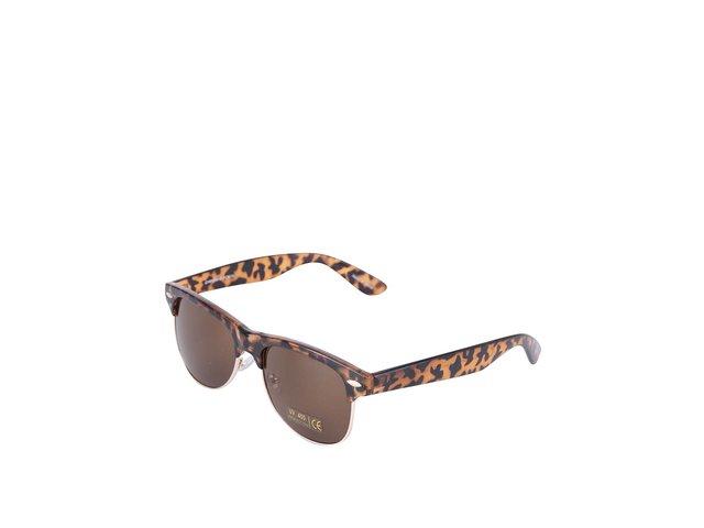 Hnědé vzorované sluneční brýle Pieces Noa
