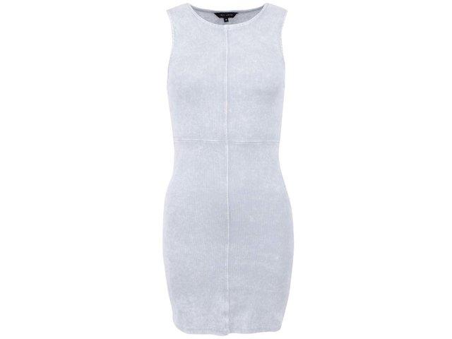 Žebrované šedé šaty New Look