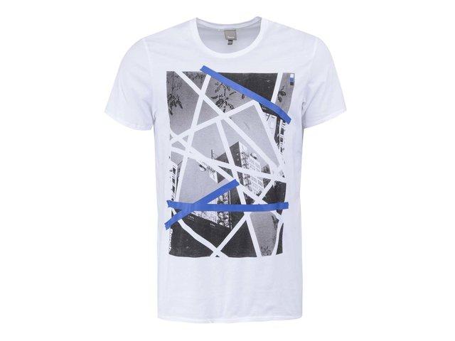 Bílé pánské triko s potiskem Bench Splinter