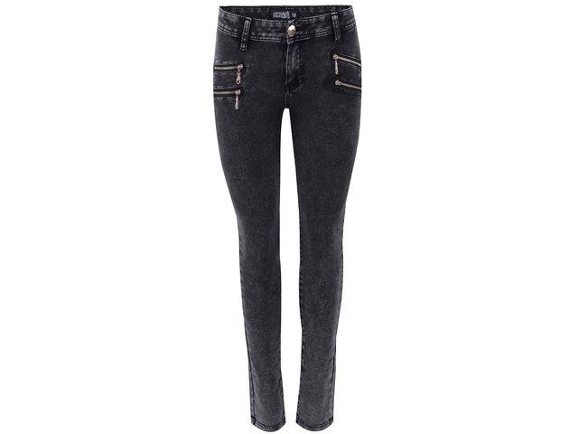 Černé džíny se zipy Haily´s Anna
