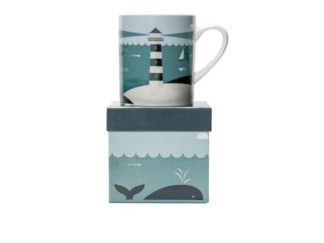 Porcelánový hrnek s dárkovou krabičkou Magpie Lighthouse