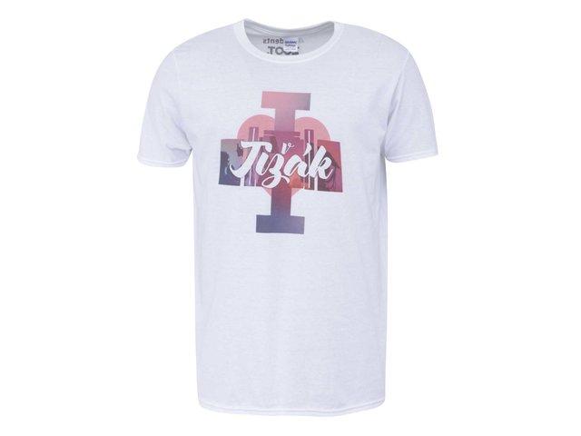 Bílé pánské triko I Love Jižák