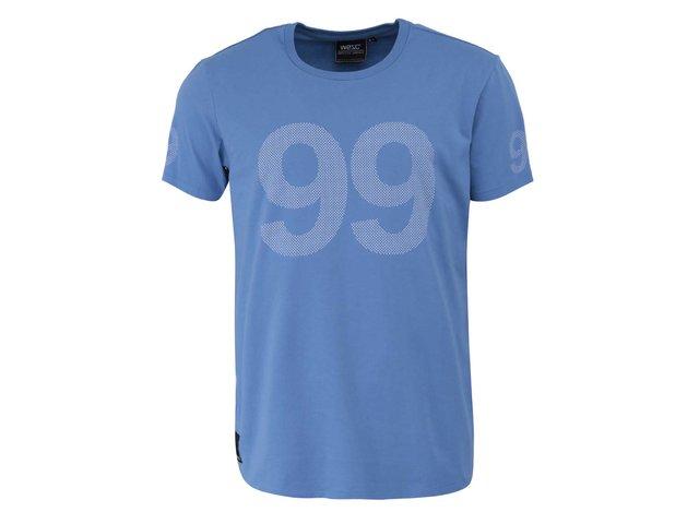 Světle modré triko s potiskem WeSC 9 Dot 9