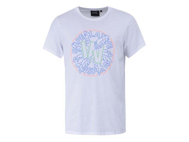Bílé triko s potiskem WeSC Palma