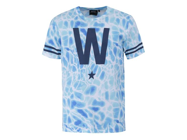 Bílo-modré triko WeSC W Star