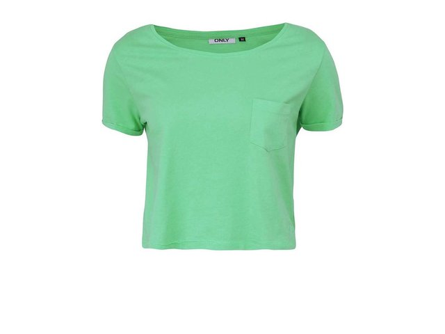Zelené kratší tričko s kapsou ONLY Ella