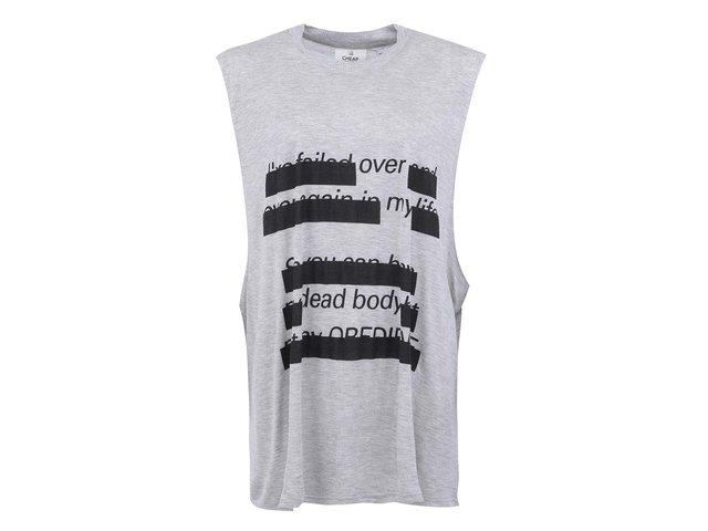 Šedé dámské delší tričko s potiskem Cheap Monday Morgan
