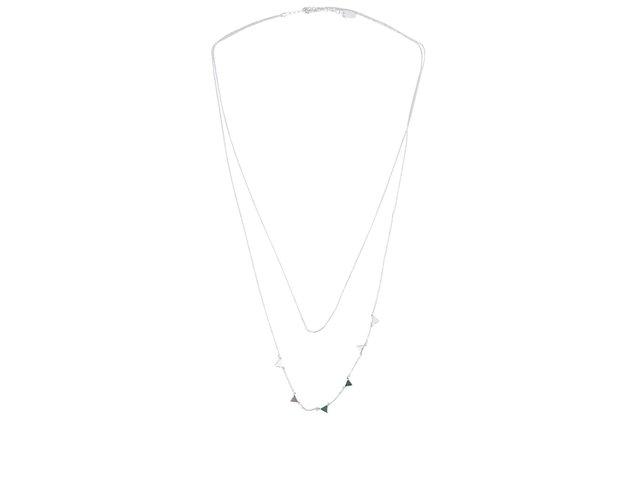Dvouřadý náhrdelník ve stříbrné barvě Orelia