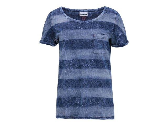 Modré pruhované tričko Noisy May Summer