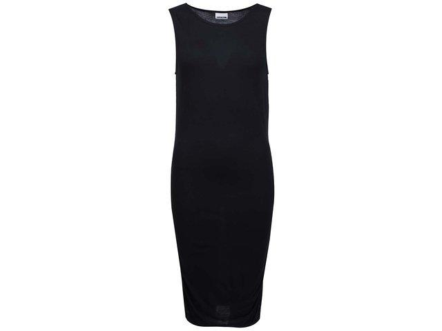 Černé šaty s řasením na bocích Noisy May Tasty
