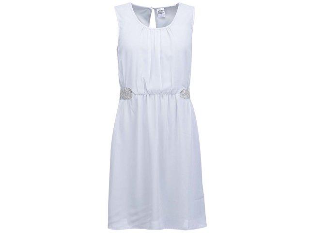 Modrošedé šaty Vero Moda Beads