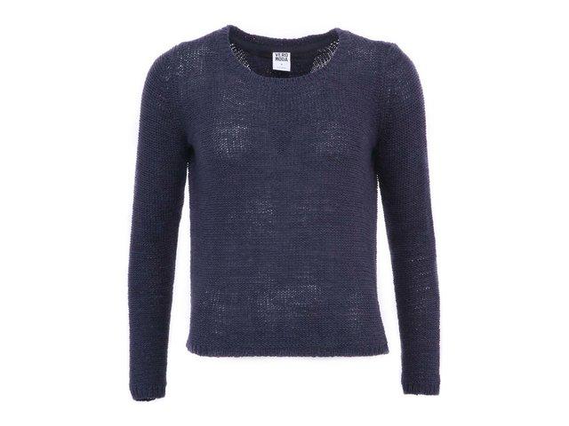 Tmavě modrý svetr s vykrojenými zády Vero Moda Risa