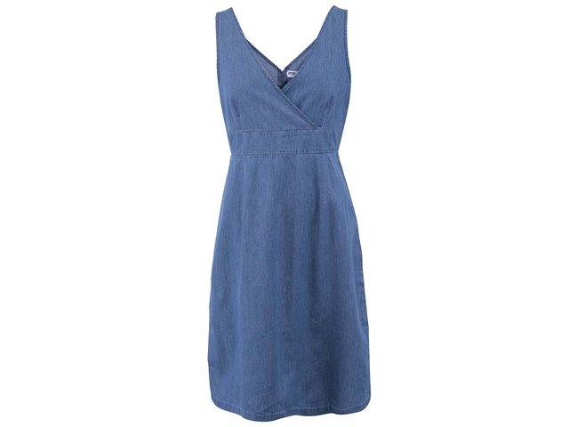Modré bavlněné šaty Vero Moda Just Josephine