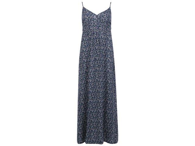 Tmavě modré dlouhé květované šaty ONLY Choice