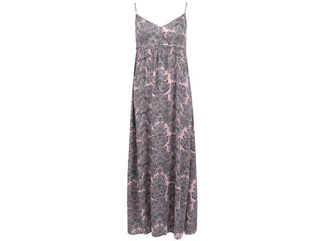 Růžové vzorované dlouhé šaty ONLY Choice