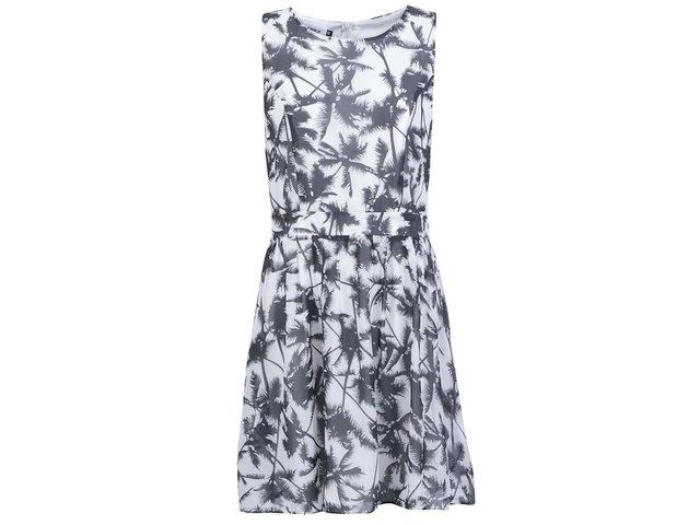 Krémové šaty s palmami ONLY Dara