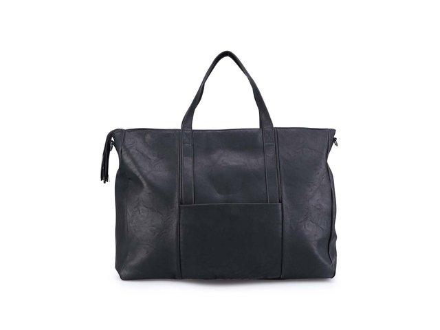 Černá velká kabelka s popruhem Pieces Norwi