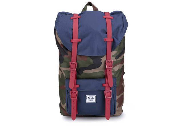 Menší maskáčový batoh s přední kapsou Herschel Little America