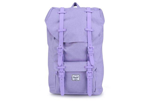 Menší fialový batoh s přední kapsou Herschel Little America