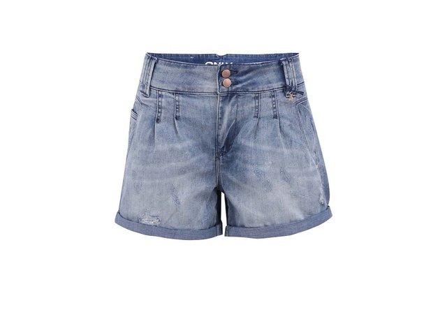 Modré džínové volnější kraťasy ONLY Lala
