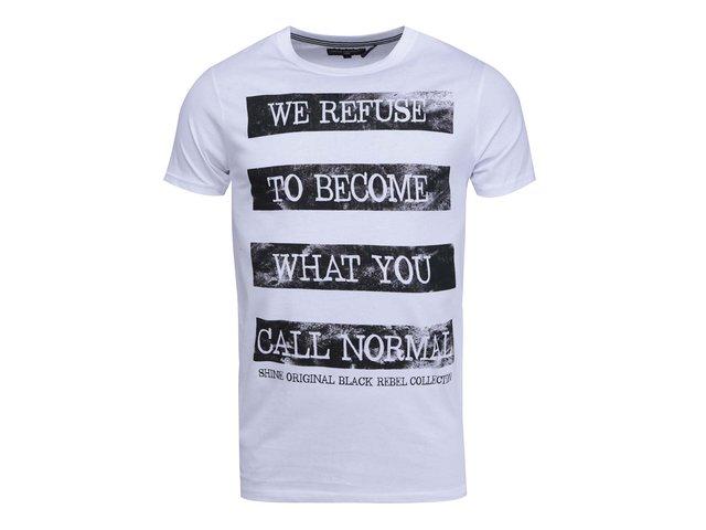 Bílé triko s nápisem Shine Original
