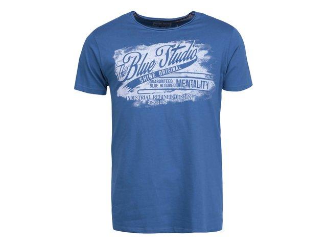 Modré triko s bílým potiskem Shine Original