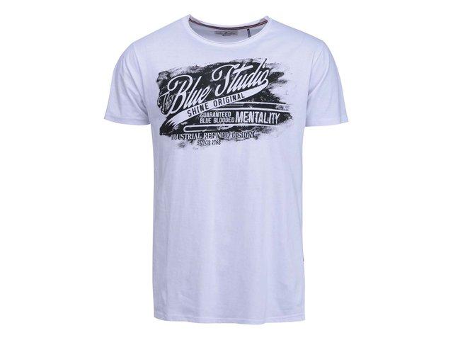 Bílé triko s černým potiskem Shine Original