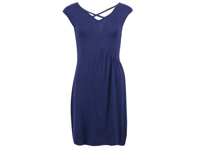 Modré šaty s páskovým dekoltem Skunkfunk Louella