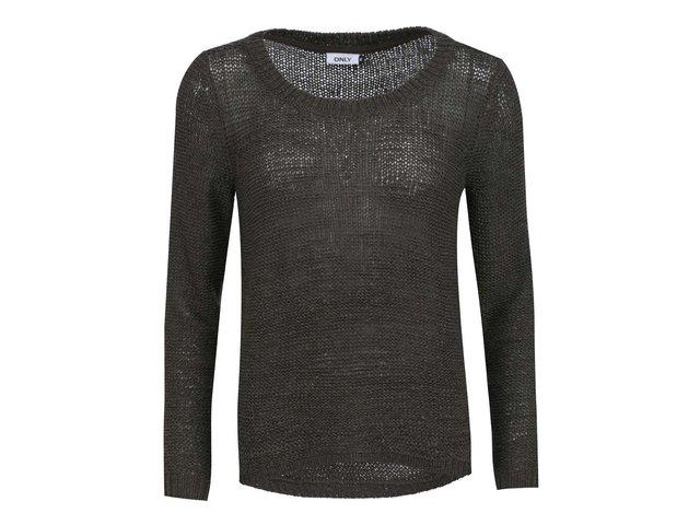 Khaki pletený svetr ONLY Geena