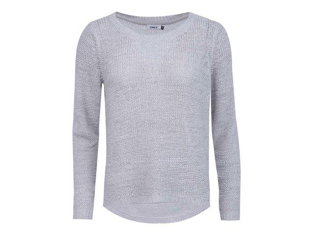 Světle šedý pletený svetr ONLY Geena