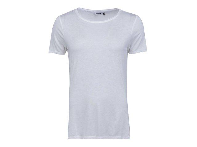 Bílé triko s průstřihy ve tvaru křídel ONLY Lasercut