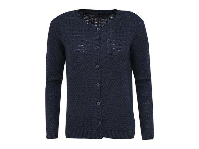 Tmavě modrý svetr na knoflíky VILA Share