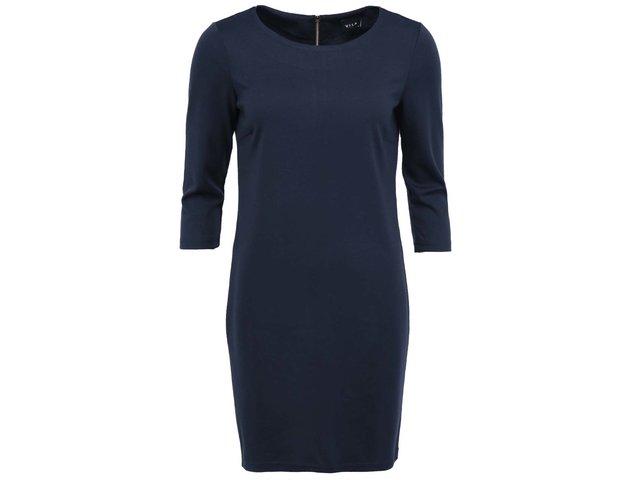 Tmavě modré šaty s 3/4 rukávy VILA Tinny