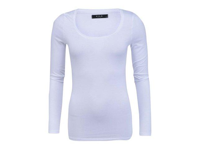 Bílé tričko s dlouhými rukávy VILA Officiel