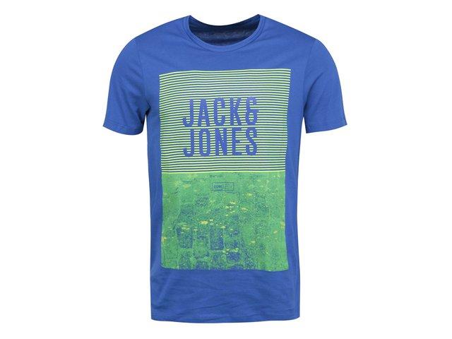 Zeleno-modré triko s potiskem Jack & Jones Road