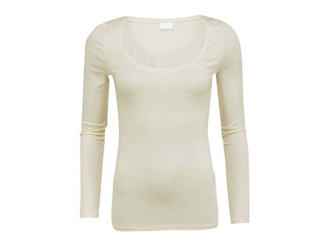 Krémové tričko s dlouhými rukávy VILA Officiel