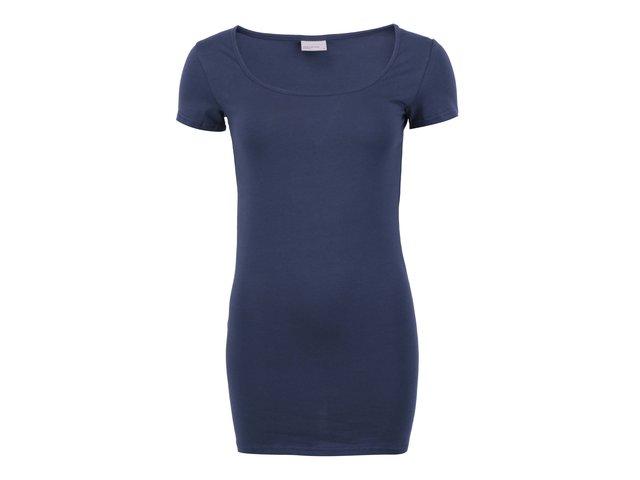 Tmavě modré jednoduché tričko Vero Moda Maxi