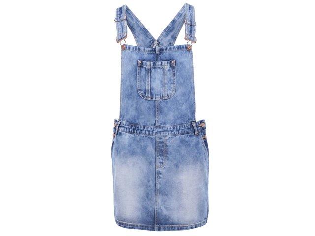 Modré džínové laclové šaty Vero Moda Orson