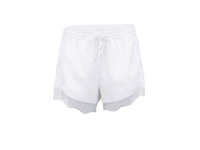 Bílé kraťasy s krajkou Vero Moda Lata