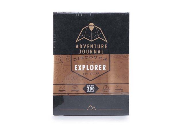 Černý cestovní informativní deník se stíracími mapami Luckies Adventure Journal