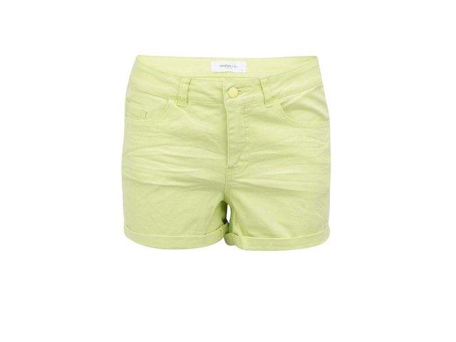 Limetkově žluté kraťasy Vero Moda Brix