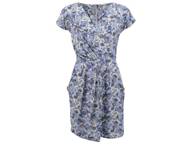Modro-šedé šaty se zipem na zádech Closet