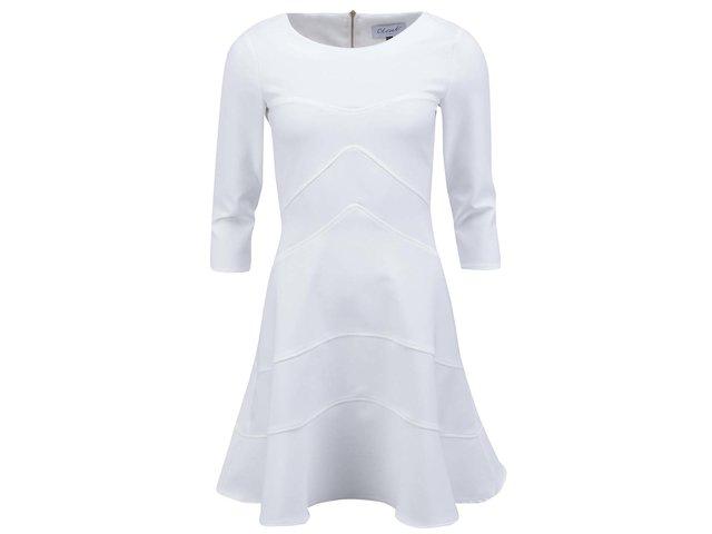 Bílé šaty s 3/4 rukávem Closet
