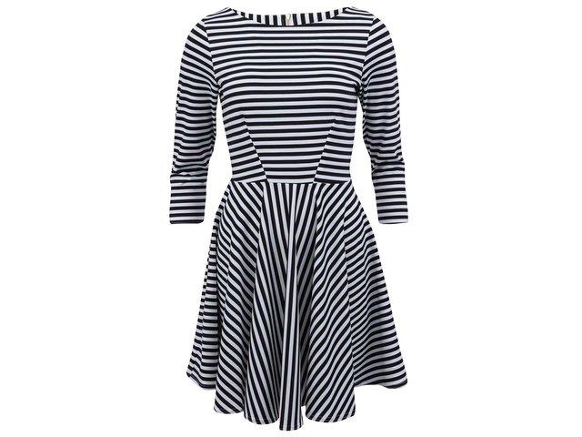 Černo-bílé pruhované šaty Closet