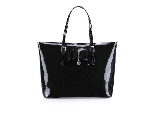 Černá lesklá kabelka se třpytkami LYDC