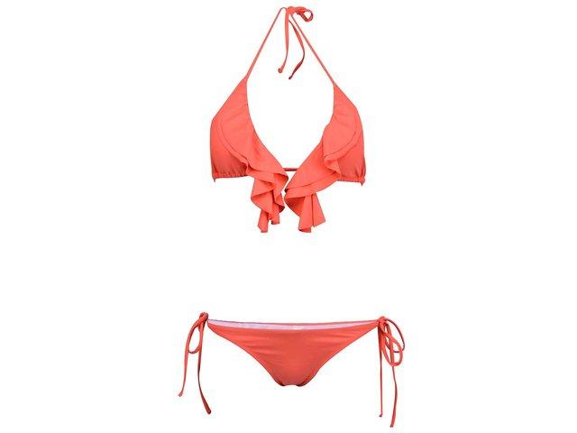 Červené plavky s nařasením Relleciga Cherry
